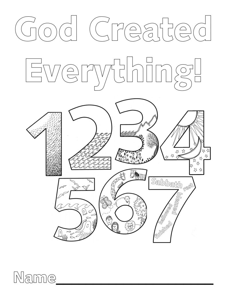 Creation Numbers Coloring Book Pdf Google Drive Preschool Bible Sunday School Lessons Creation Coloring Pages