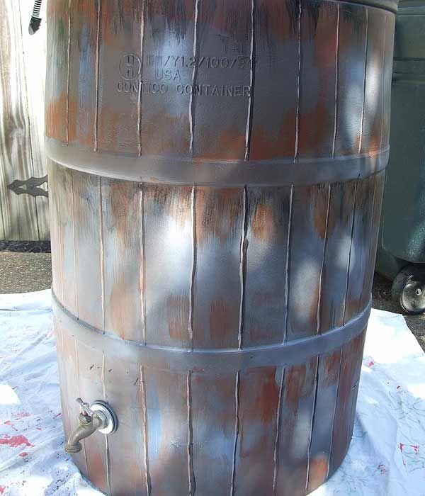 Trompe L Oeil Rain Barrel Tutorial Rain Barrel Water Barrel Rain Barrels Diy