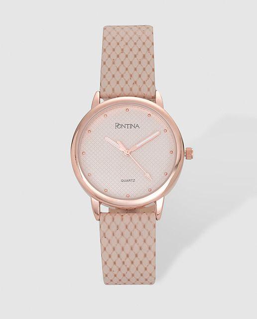Reloj de mujer Pontina rosa  storelatina  storelatinaperu  bolso   cosmeticos  perfumes  fragancias  relojes  relojmujer 9d48d9f13801