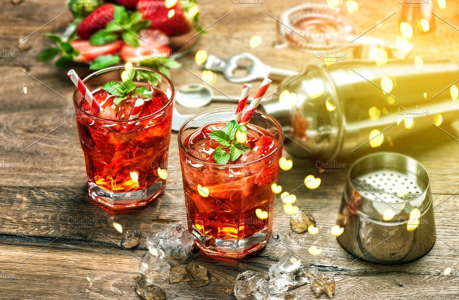 Red drink Aperitif mojito caipirinha (mit Bildern)