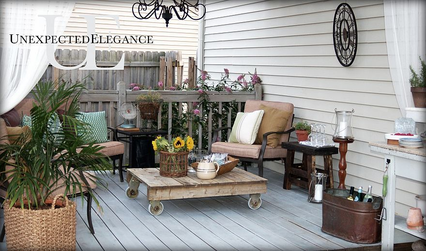 beautifully eclectic outdoor space