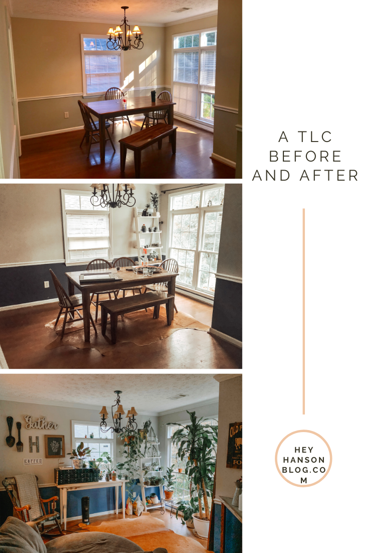 An Antique, farmhouse, plant lovers home dream and showing the before and afters of a year in the house! #houserenovations #tlc #decoronabuget #DIY #etsyfinds #bohobeachhouse #militaryhouse #workwithwhatyougot #slowlyovertime #antiquedecor #farmhousedecor #hobbylobby #plantplantplant #plantlady #dogmom