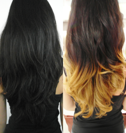Black To Blonde Dip Dyed Love It Dye Hair