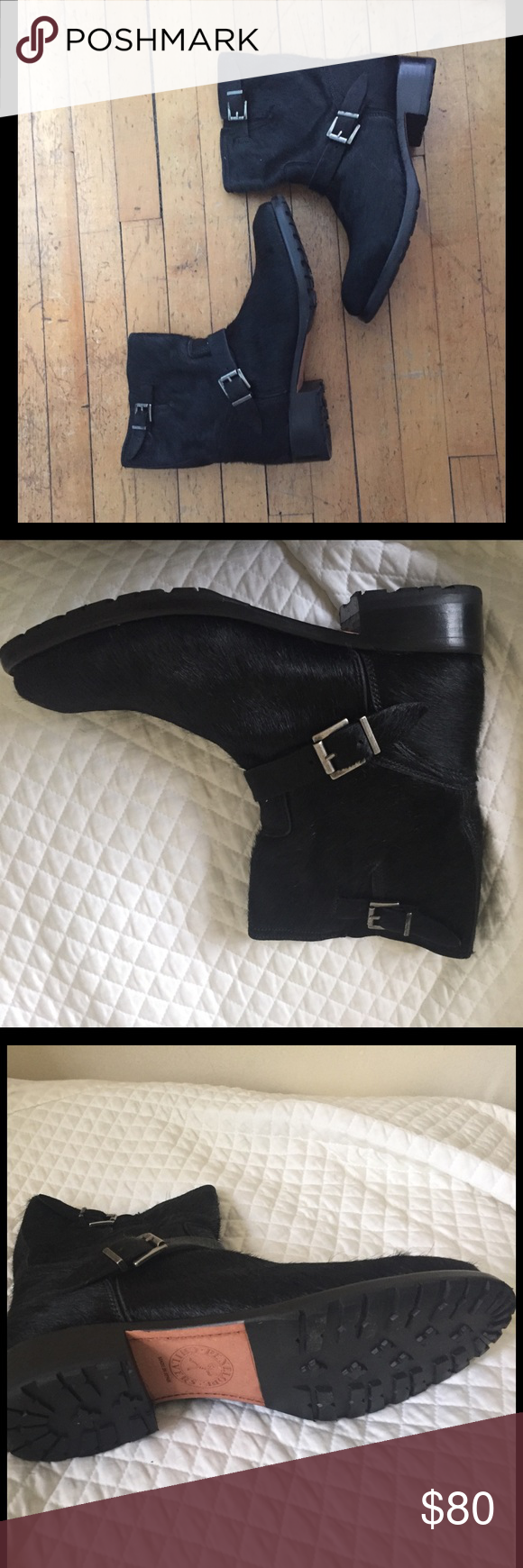 Calf Hair Moto Boot - Brand New, Size 41 Calf Hair Moto Boot by Penelope Chilvers. Brand new! Just a tad bit too big for me. Size 41. Real calf hair. Bought from Calypso St. Barth. Penelope Chilvers Shoes Combat & Moto Boots