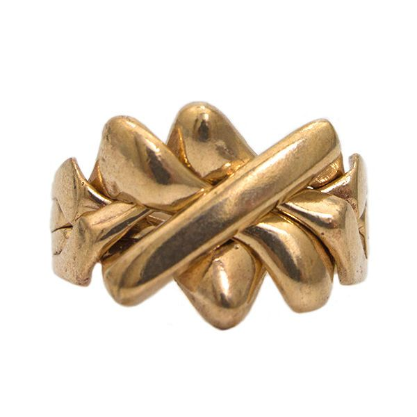 Solid Bronze 4 Band King Turkish Puzzle Ring - Sizes from 4 to 12 #Allpuzzlerings #Band