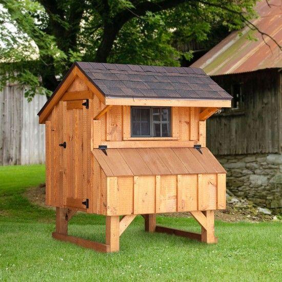 Amish 3W x 4L Quaker Chicken Coop | Chickens backyard ...
