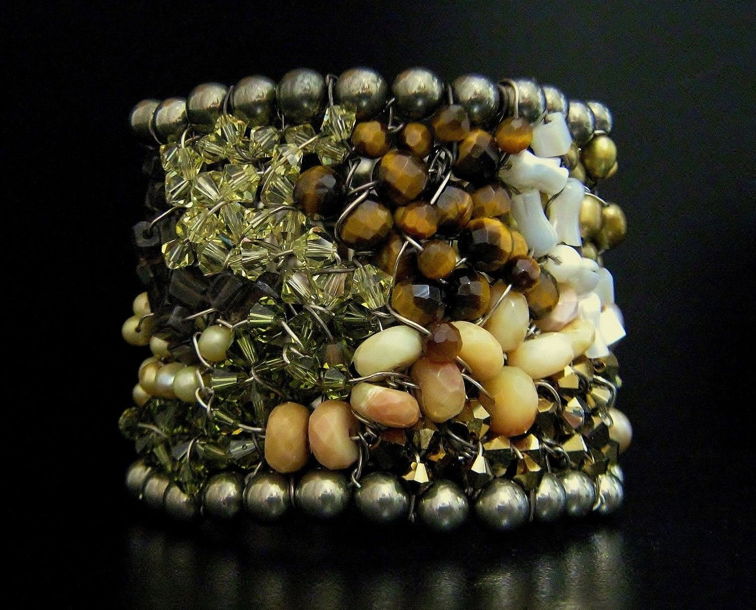 Handmade Designer Cuff Camouflage Watercolor by SharonaNissan, via Etsy.