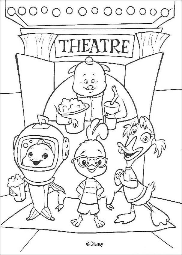 Chicken Little Coloring Pages
