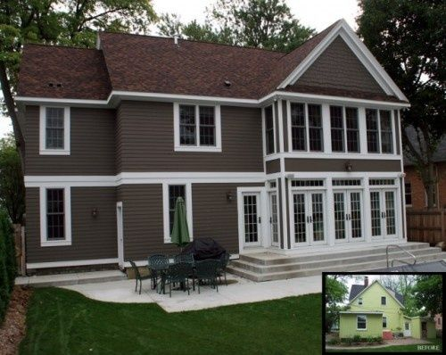 exterior house colors with brown roof might work for our small house in the woods - Exterior House Colors