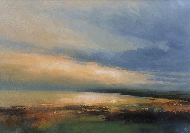 Lunan Bay, Contemporary Scottish Oil Painting, Arbroath
