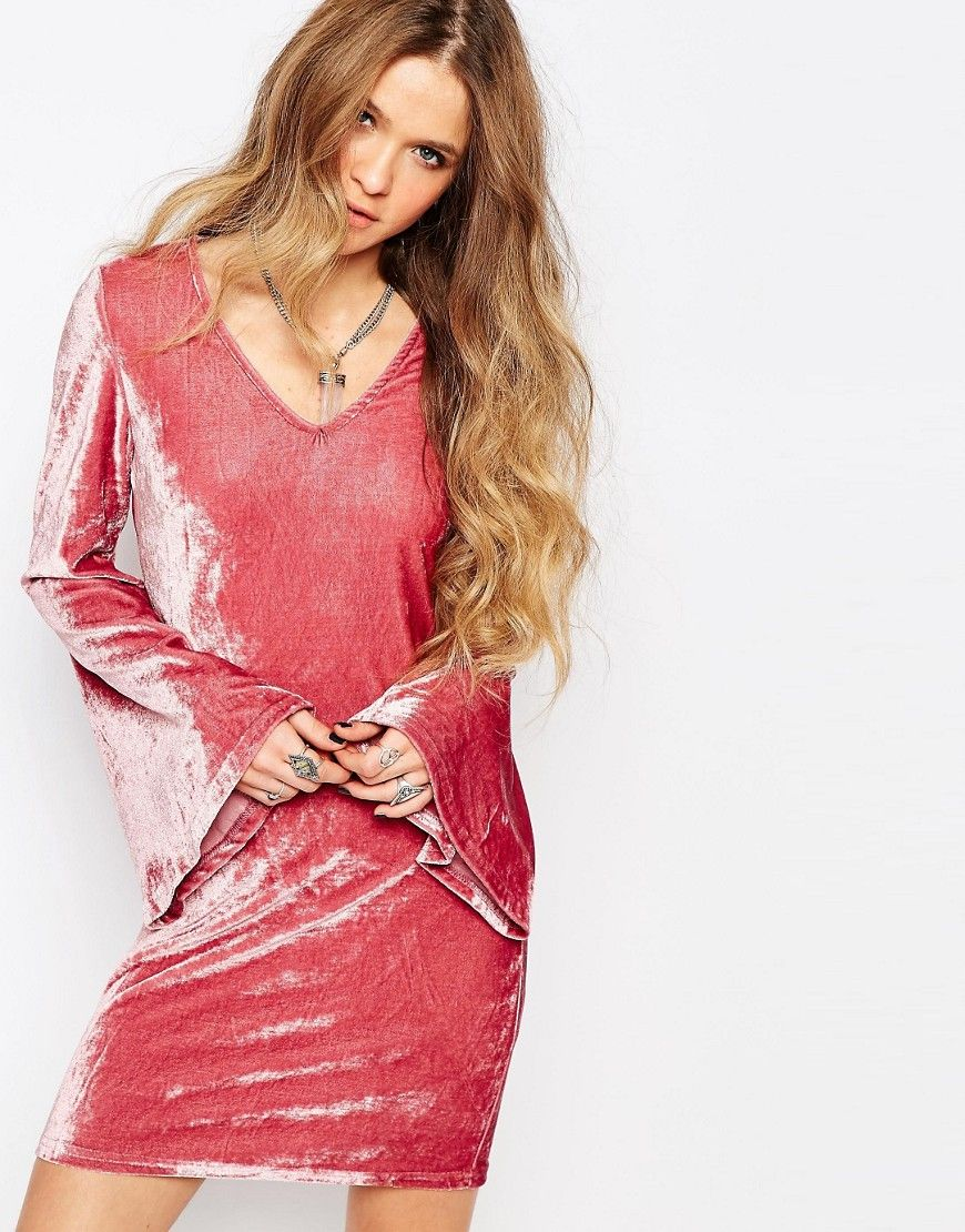 glamorousdresswithflaresleeves velvet it is pinterest