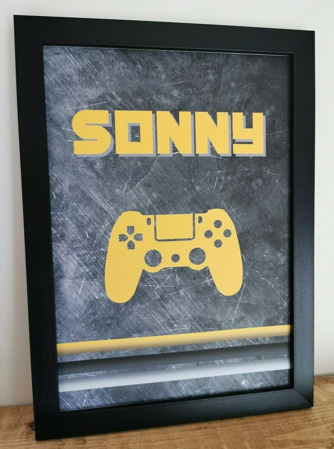 A4 Personalised With Name Gamer PS4 Playstation Bedroom/Games Room/Man Cave/Boys Room/Playroom Teenager/Kids Print Birthday Xmas Gift
