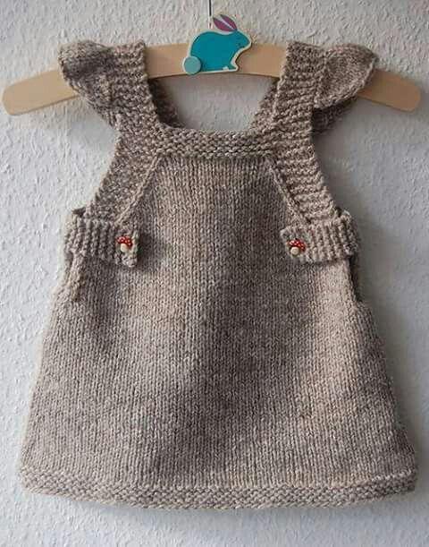 Pin von elda auf sainha jardineira de trico para bebe | Pinterest ...