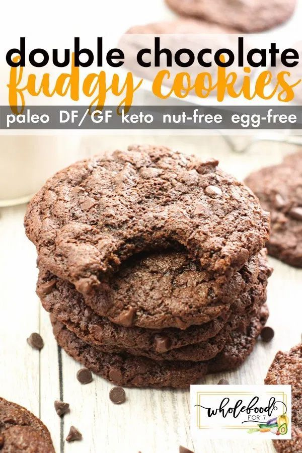Double Chocolate Fudgy Cookies - Paleo, gluten-fre