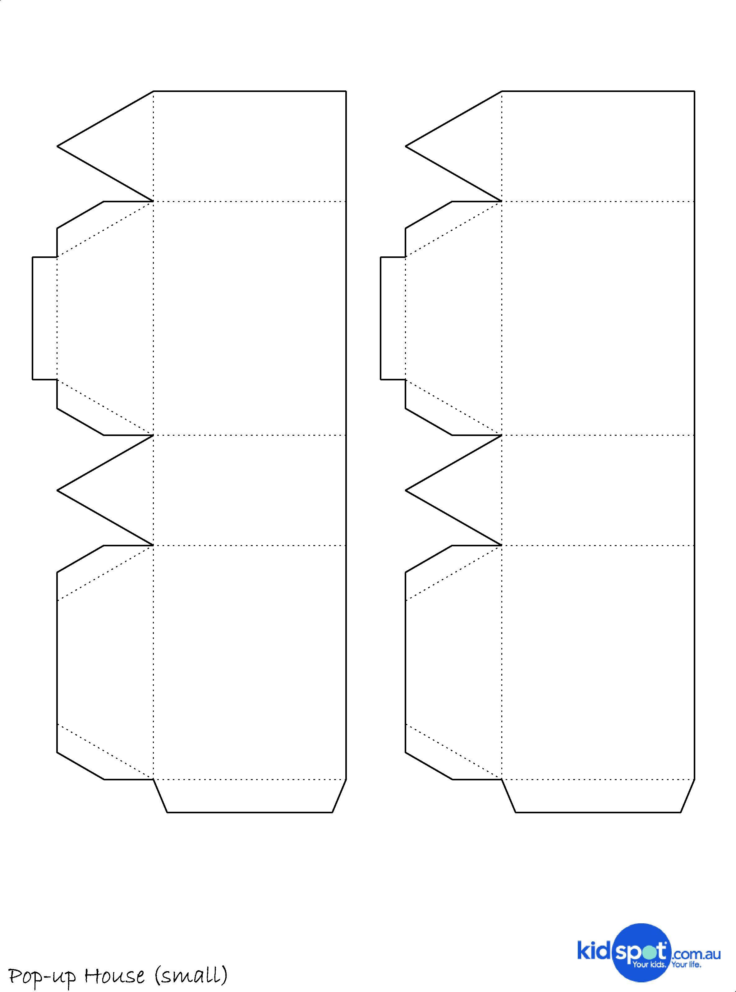 Http D33y93cfm0wb4z Cloudfront Net Lauren Printables Pop Up House Sml Jpg Paper House Printable Paper House Template Printable Craft Templates