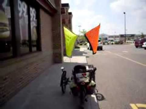 Homemade Safety Flags Tadpole Rider Trike Electric Trike Travel Tours