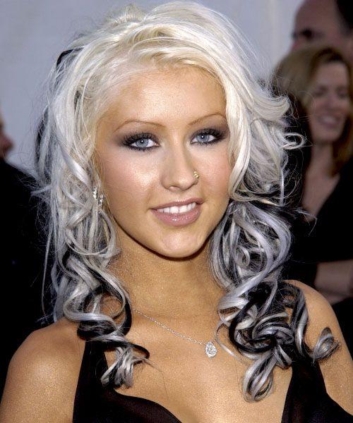 Christina Aguilera Hairstyle Long Wavy Alternative Christina Aguilera Hair Hair Color Pictures Two Color Hair
