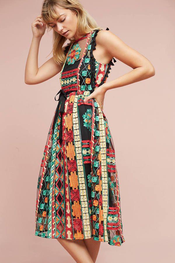 85c97259e196 Eva Franco Saskia Embroidered Dress | Spring/Summer | Fashion ...