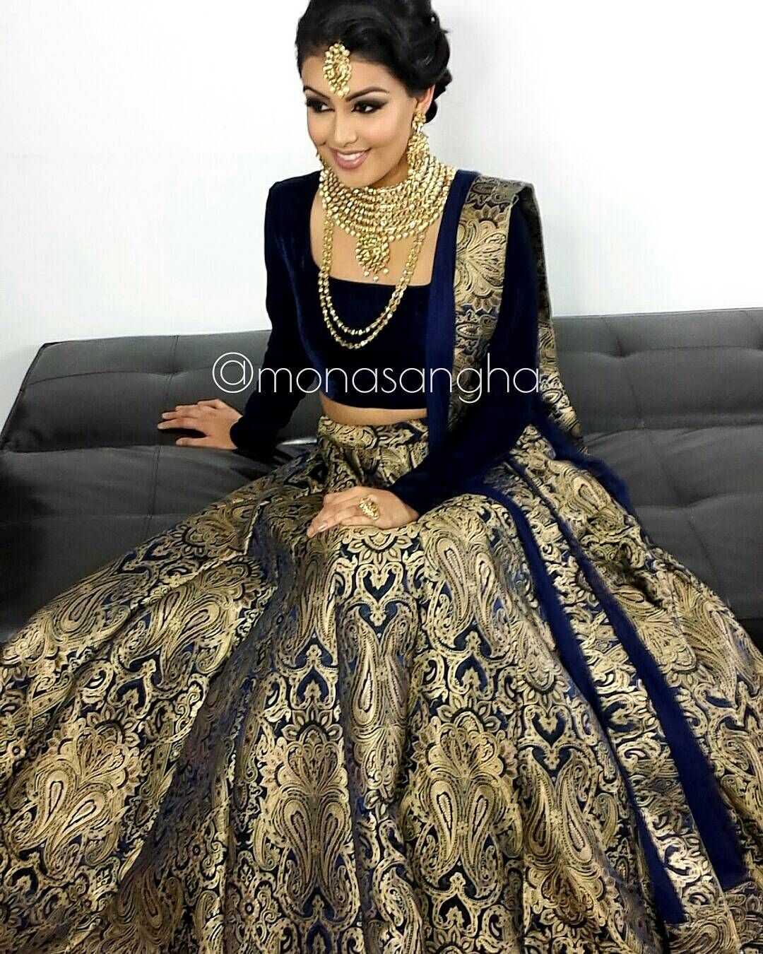 """Clearly this lengha is a hit Hair & Makeup monasangha"