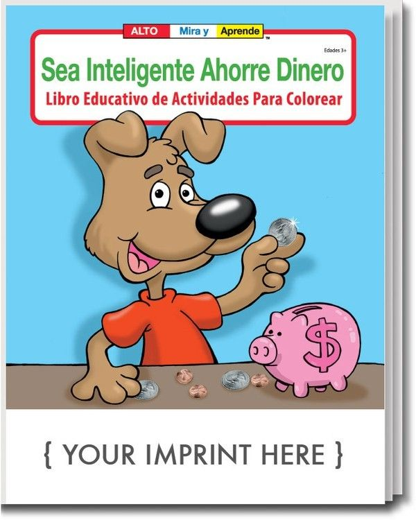COLORING BOOK - Be Smart, Save Money (Spanish) Coloring ...