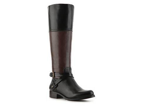 27d773850bb5 boots  audrey brooke abey two-tone riding boot - dsw.com