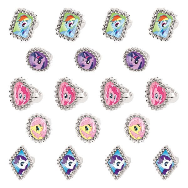 New My Little Pony Friendship is Magic Party Favor Supplies Jewel Rings 18ct
