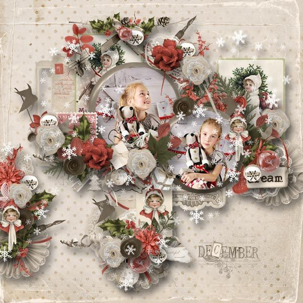 Vintage Christmas by Celinoa's Designs http://digital-crea.fr/shop/index.php?main_page=product_info&cPath=155_332&products_id=22655 Photo by Mily Photography