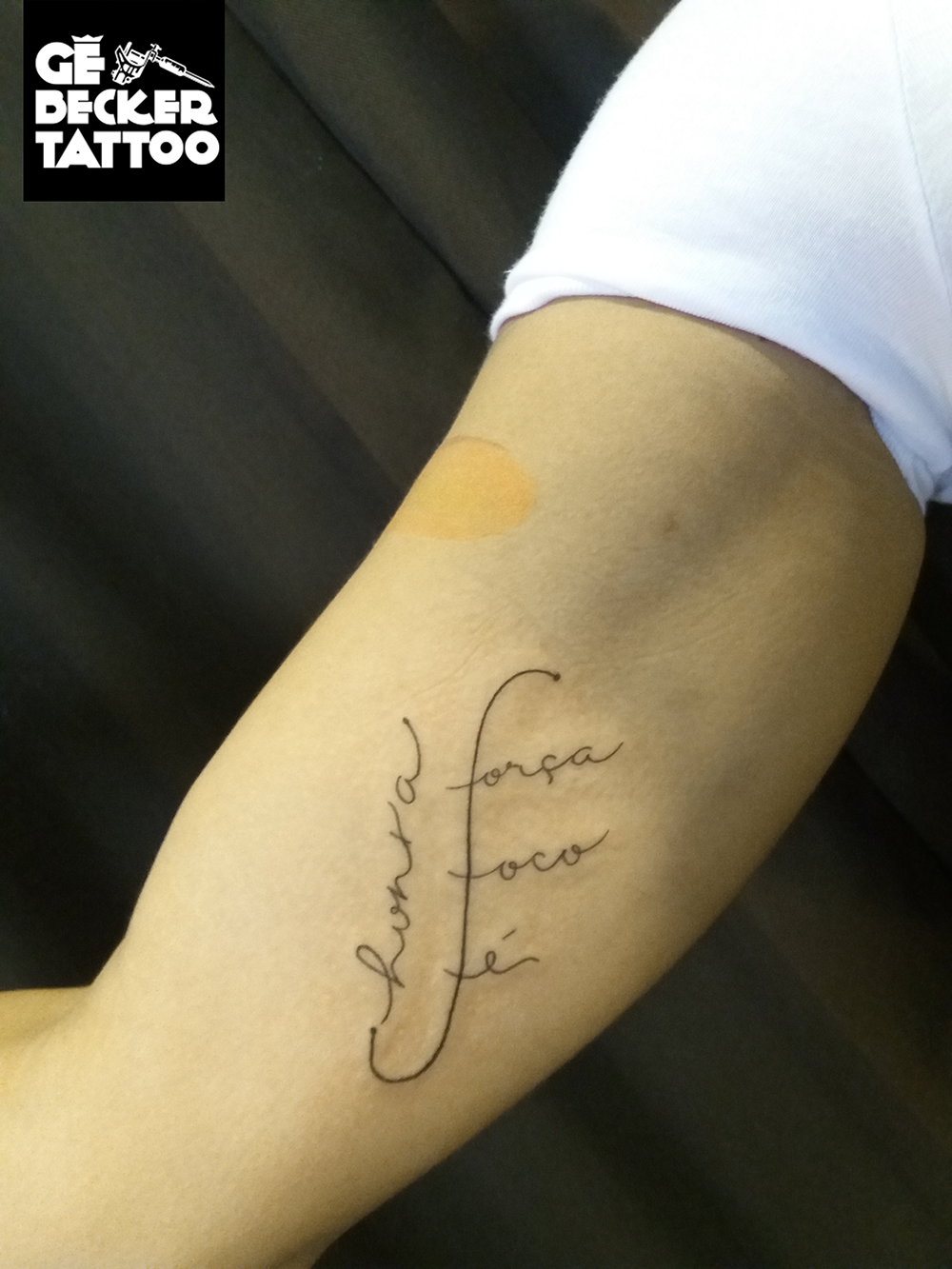 Tattoo Lettering Honra Foco Força Fé Letras Escrita