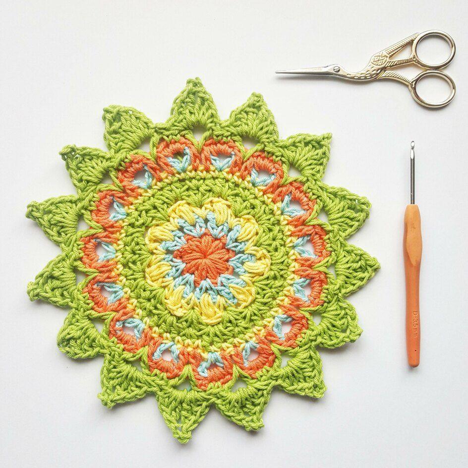 8 FREE crochet mandala patterns | LoveCrafts, LoveKnitting's New Home #crochetmandalapattern