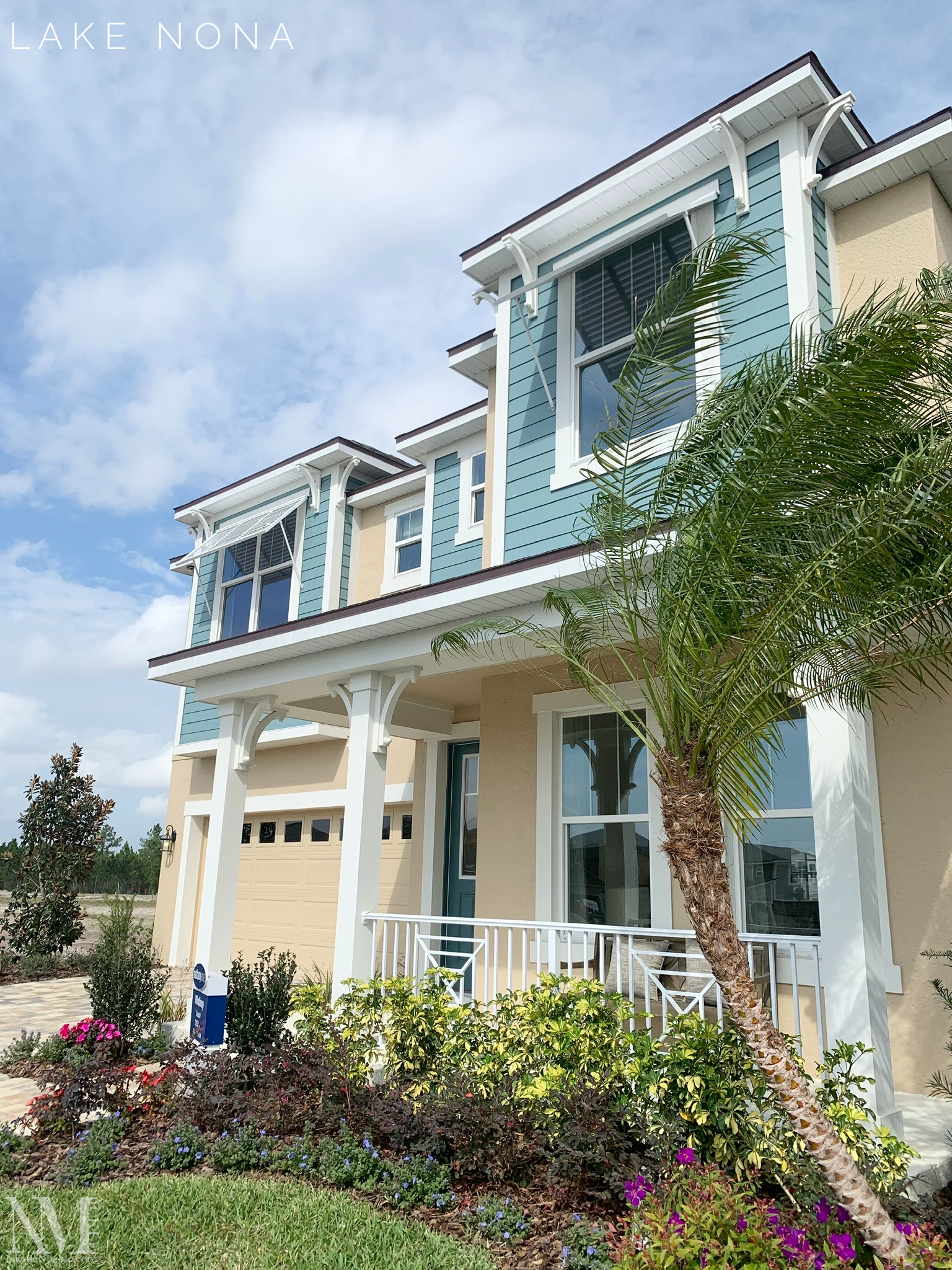 Coastal exterior architectural design located in Orlando, FL .  For more builders and options for your new home.  Please visit my website for more details.