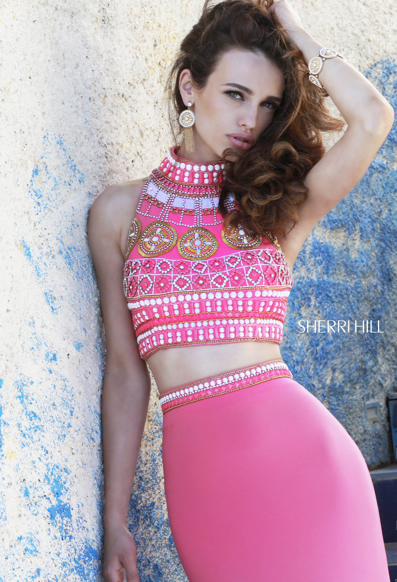 Two piece crop top from Sherri Hill for Prom | Sherri Hill Prom ...