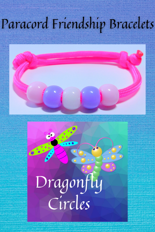 Paracord slip bracelets  party favors