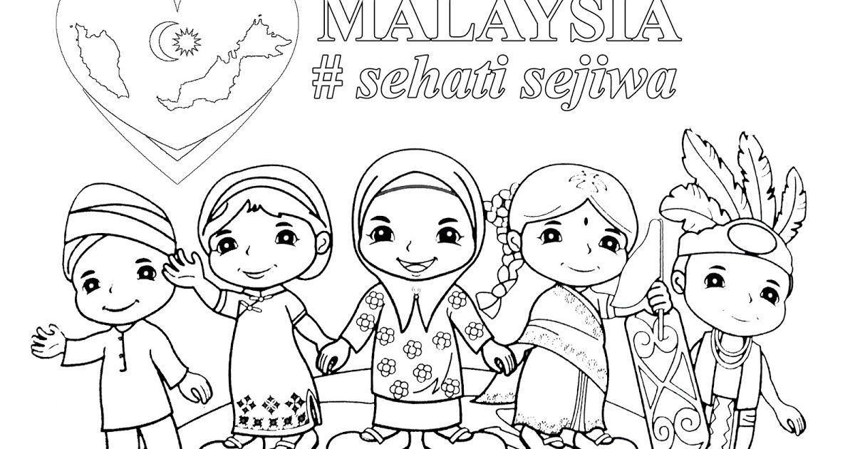 Mewarnai Bunga Kebangsaan Indonesia Mewarnai Bunga Kebangsaan Malaysia Mewarnai Bunga Kebangsaan Singapura Photo Collage Template Flower Drawing Coloring Books
