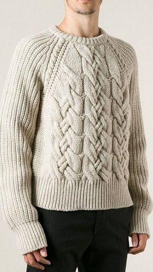 Patrón para el suéter de un hombre   puntaditas   Pinterest ...