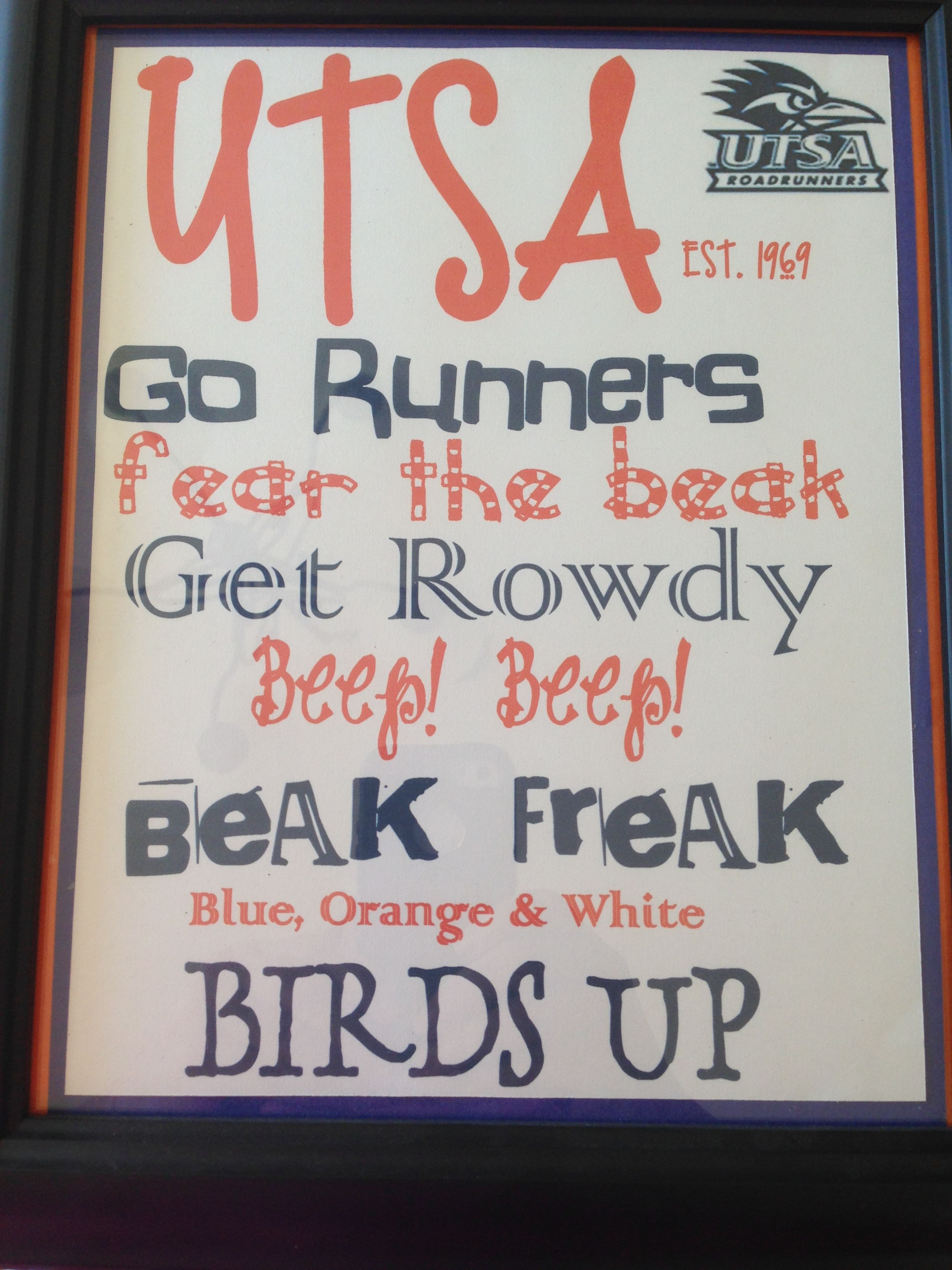 Personalized Custom UTSA Birds Up Texas Decal University Of Texas - Custom car decals san antonio   how to personalize