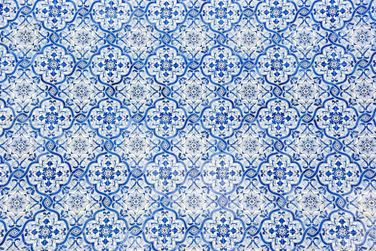 TypischeportugiesischeFliesenAzulejosmitMusterLizenz - Portugiesische fliesen azulejos