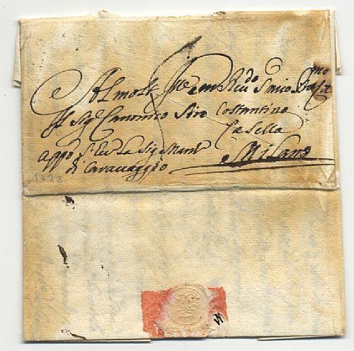 Da Roma 1728 a Milano con esposizione al calore e taglio diagonale.