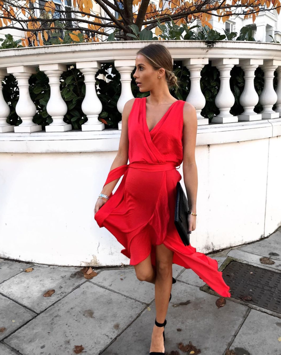 Cecilia Sleeveless Wrap Front Maxi Dress In Candy Red Flounce London Silkfred In 2021 Red Wedding Guest Dresses Maxi Dress Wedding Guest Red Dress Maxi [ 1190 x 942 Pixel ]