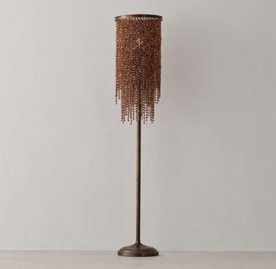 Athena Crystal Floor Lamp Copper