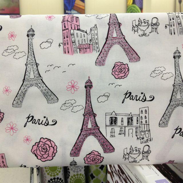 Paris glitter fabric at hobby lobby girls bedroom for Space themed fabric hobby lobby