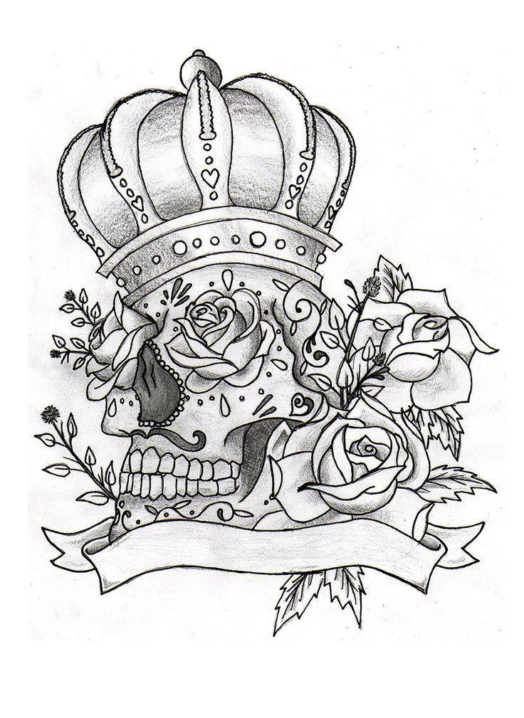 skulls coloring tattoo coloring skull sugar sugar skull tattoos ...