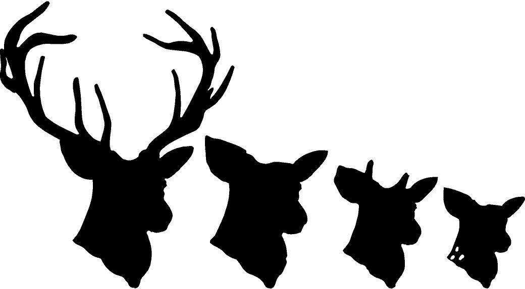 Deer Head Decal