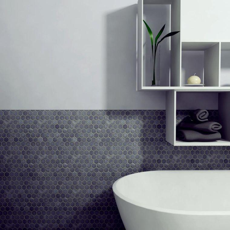 Le carrelage hexagonal de salle de bain c 39 est tendance salle de bains carrelage hexagonal - Carrelage hexagonal salle de bain ...
