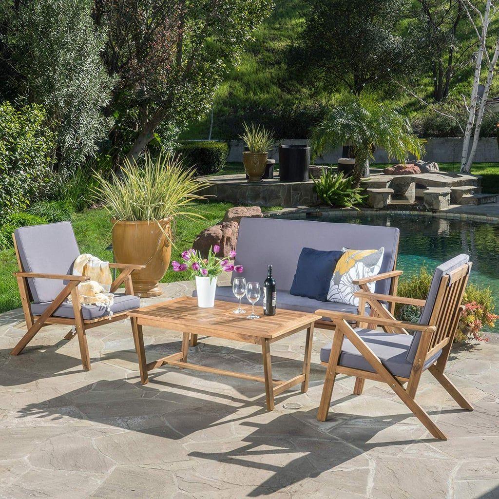 Christopher Knight Home Manarola 4-Piece Outdoor Set ...