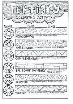 Colour Wheel Tertiary Learning Activity Art lessons
