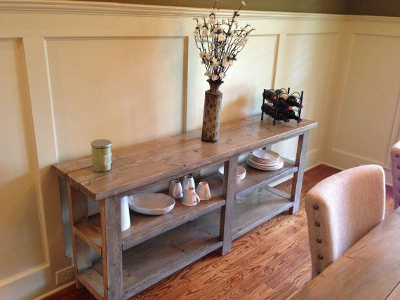 Sofa buffet side table farmhouse on etsy long for Dining room tables etsy