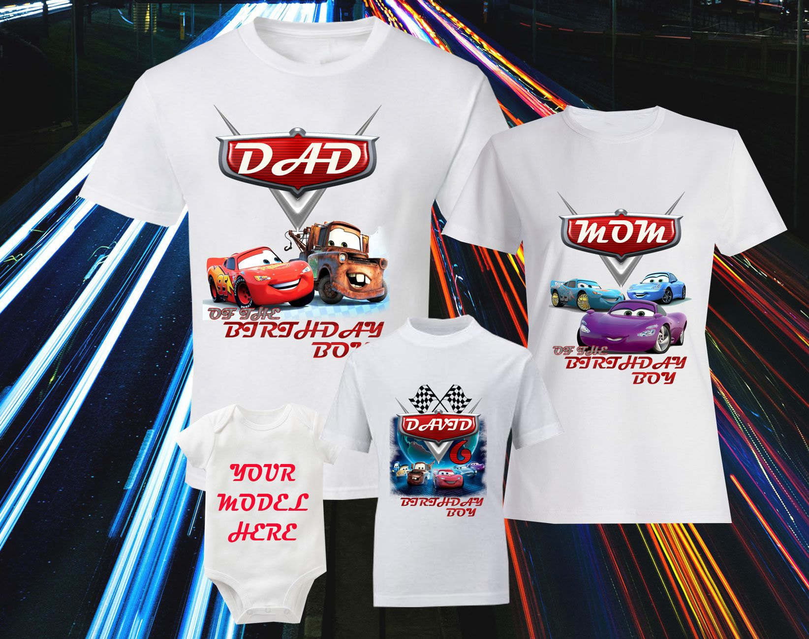 82da2d7cf Cars Birthday Disney T-Shirts Cars Shirt Disney Family Shirts Birthday T-shirts  Lightning McQueen Shirt Sally Carrera Tee Sarge Shirt Guido by ...