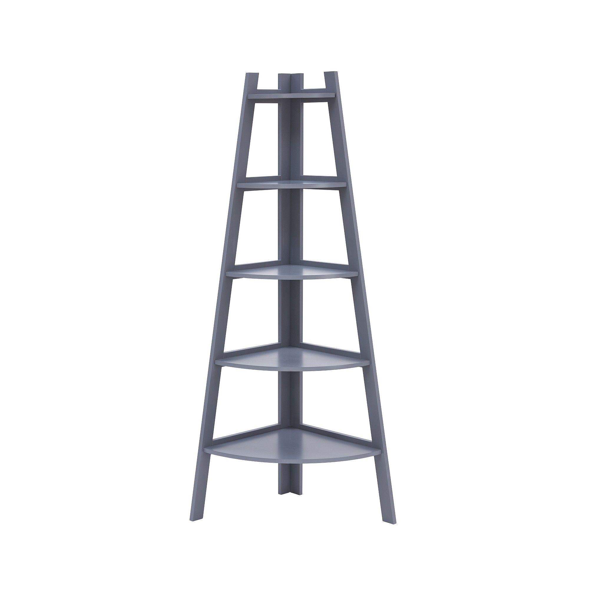 Danya b decorative tier a frame corner ladder display bookcase