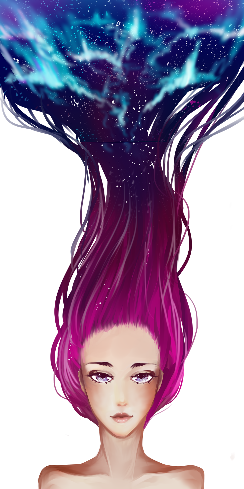 Galaxy hair by teaoflove on DeviantArt Galaxy hair