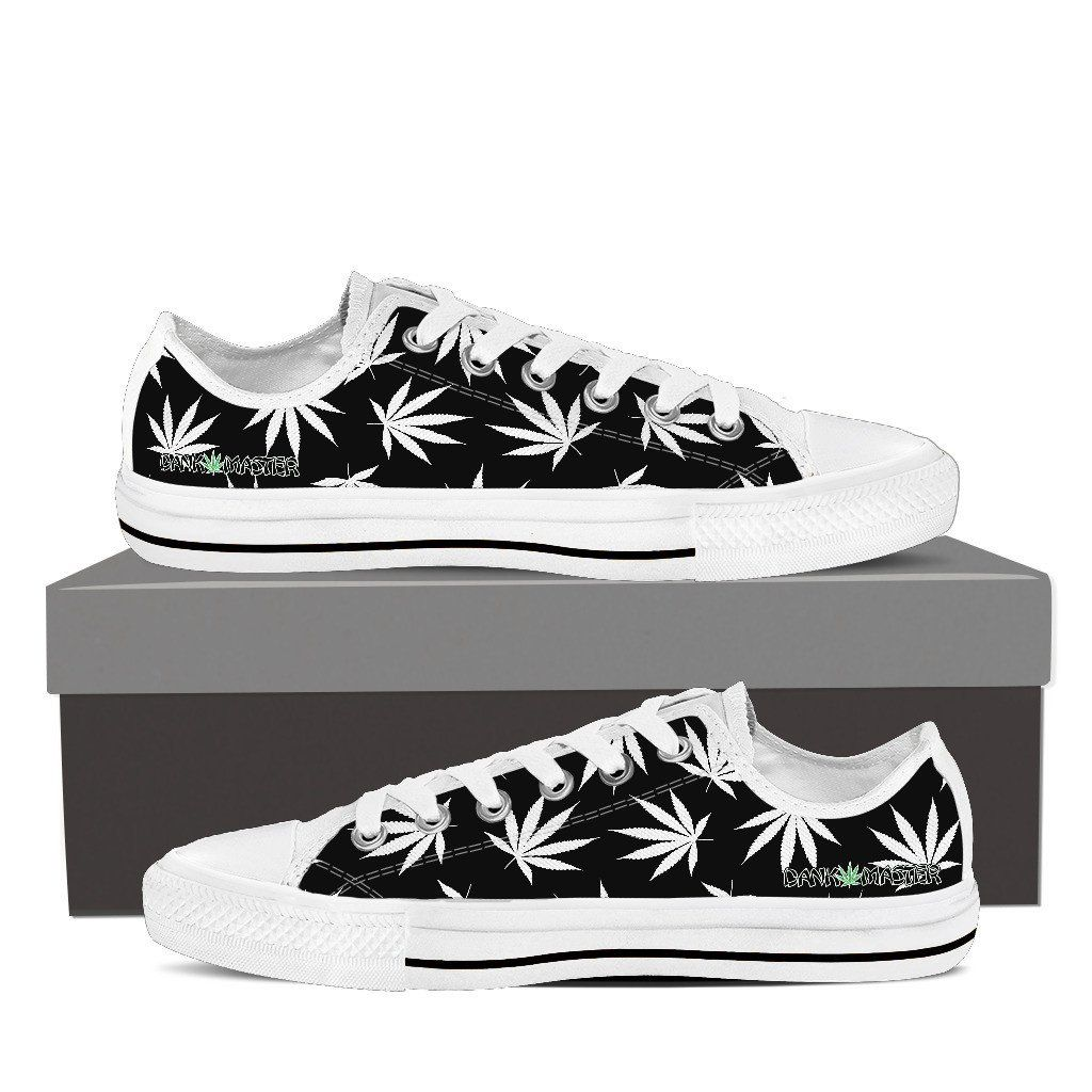 Black · Dank Master Weed Low Top Canvas Shoes ...